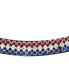 Pannband Tulp (blå/vit/röda stenar)