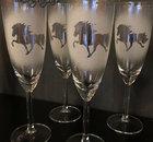 Champagneglas Islandshäst