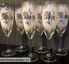 Champagneglas Islandshäst med slinga