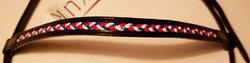 Huvudlag med flätat pannband i islandsfärger
